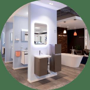Moderne Badezimmer in der Lumina Badausstellung Wuppertal