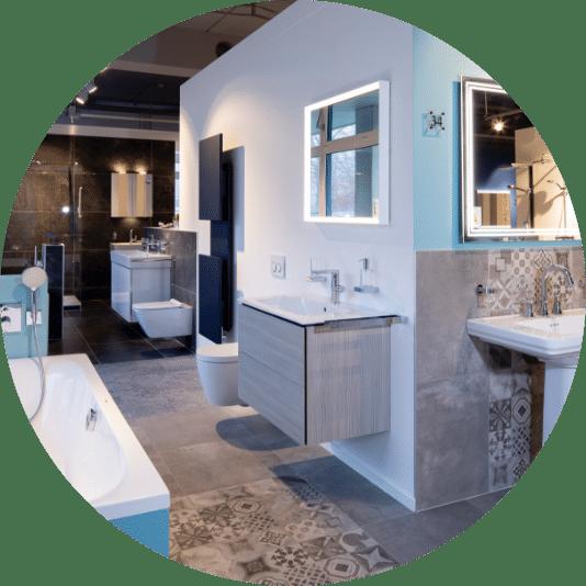 Attraktive Badezimmer in der Lumina Badausstellung Wuppertal
