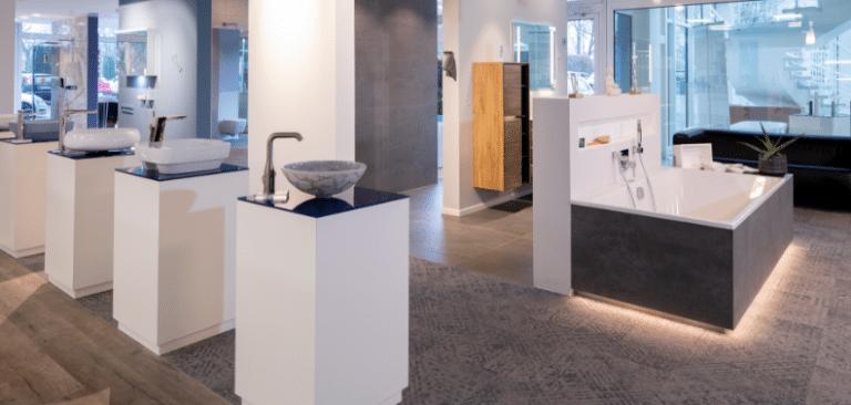Attraktive Waschbecken in der Lumina Badausstellung
