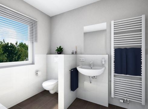 Modernes Badezimmer mit Basis Ausstattung