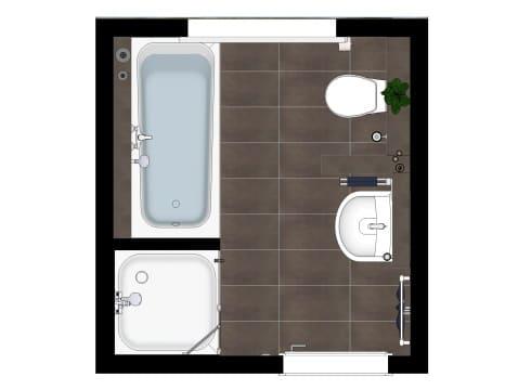 Grundriss Badezimmer in Basis Ausstattung