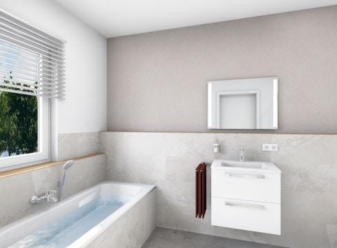 Modernes Badezimmer mit Komfort Ausstattung