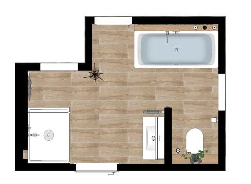 Grundriss Badezimmer in Premium Plus Ausstattung