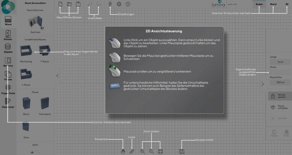 3D Badplaner der Lumina Badausstellung