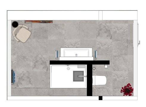 Grundriss Badezimmer in Premium Ausstattung
