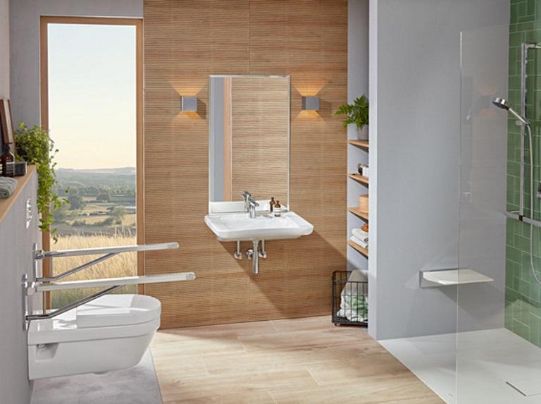 barrierearmes Badezimmer für ein barrierefries Haus