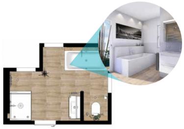 Grundriss Attraktives Komfort Plus Badezimmer