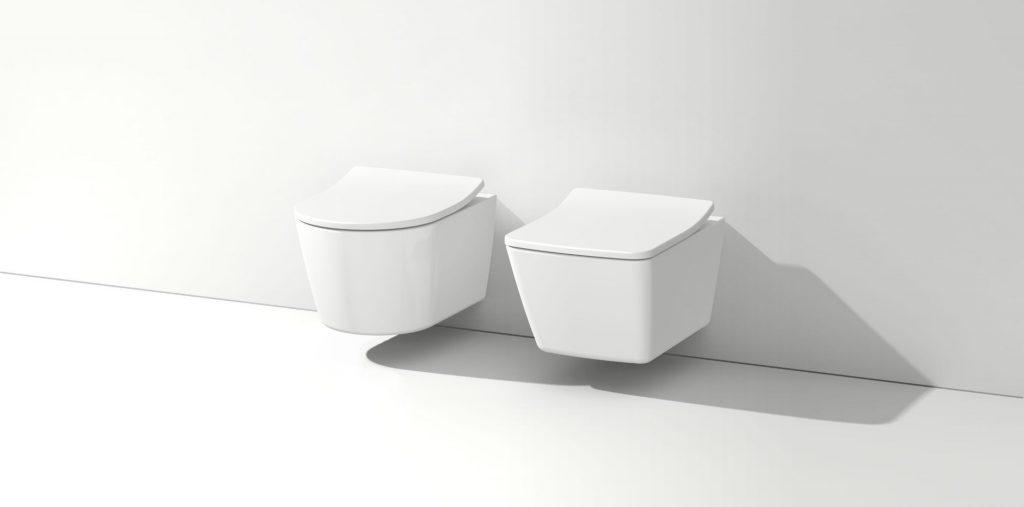 Abbildung zwei weiße WCs von TOTO