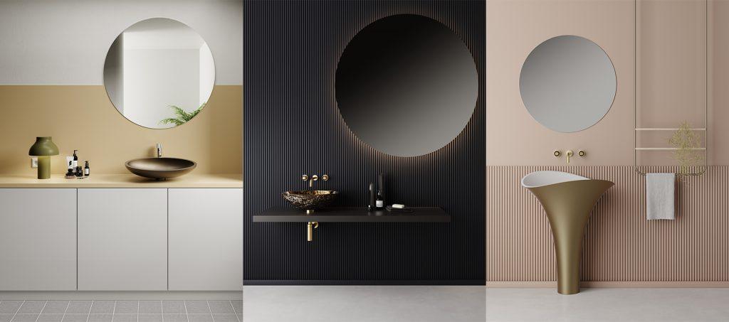 Collage verschiedene Waschbecken von GlassDesign