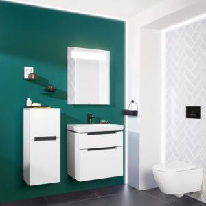 Abbildung Badezimmer in elegantem grün