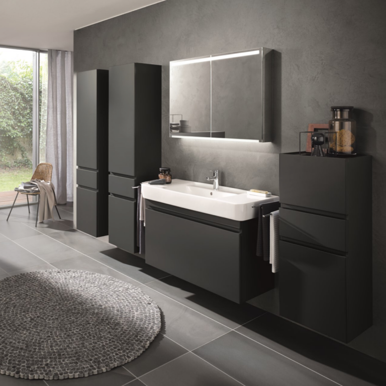 Abbildung Badezimmer in schwarz